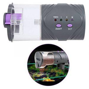 Distributeur De Nourriture Aquarium Réservoir Automatique Alimentateur Poisson DC Micro-moteur Installation Simple 15*7,5cm (sans piles) de la marque Yosoo image 0 produit