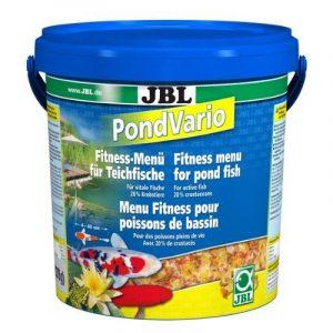 JBL 40298de Nourriture Principale Mix Flocons pour tous les poissons de bassin, doublure, baguettes Cancer Animaux Pond Vario, 1er Pack (1x 10,5L) de la marque JBL image 0 produit