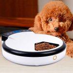 Jcotton Distributeurs automatiques de nourriture, Alimentateur automatique pour chiens et chats avec rappel vocal, 5 repas, aliments secs et humides, écran LCD, plus sain, 240 ml x 5 de la marque JCOTTON image 4 produit