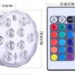 Lumière submersible de LED 2 pièces avec la télécommande, lampe multi de couleur imperméable d'Alilimall pour les piscines, bains chauds, vase de base, floral, aquarium, étang, mariage, partie, éclairage de la marque Alilimall image 2 produit